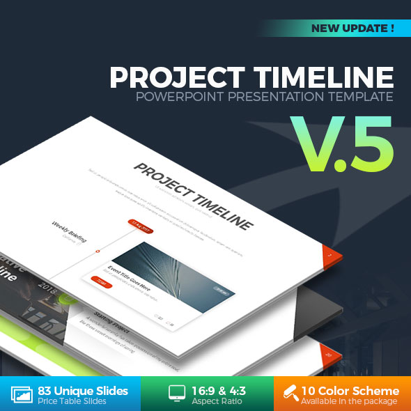 Project Timeline PowerPoint Template By RRgraph GraphicRiver - Project timeline powerpoint template