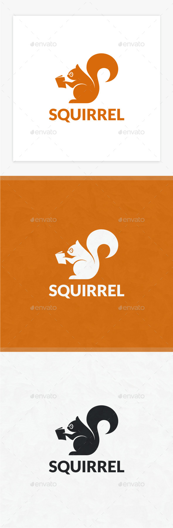 Smart Squirrel Logo - Animals Logo Templates