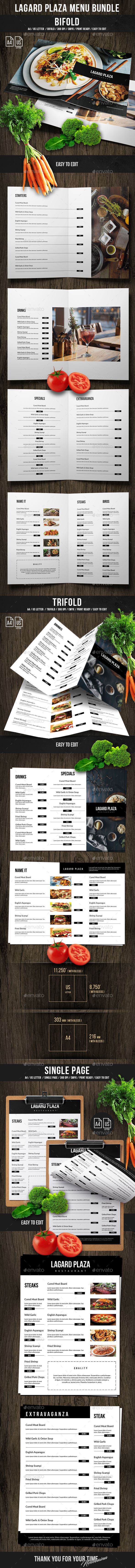 Lagard Plaza Food Menu Bundle - Food Menus Print Templates
