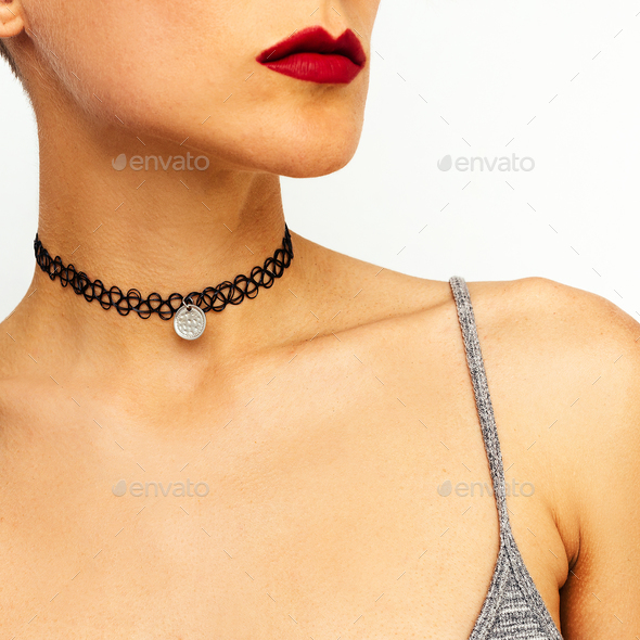 Fashion Choker Lady - Stock Photo - Images