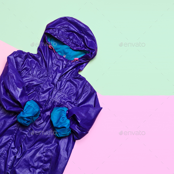 Cloak. Rain season. Urban street fashion. Minimal design - Stock Photo - Images