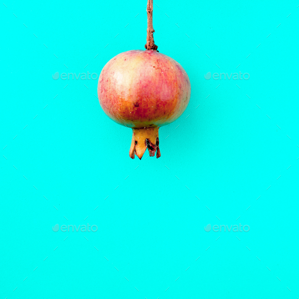 Pomegranate. Minimal art Details - Stock Photo - Images