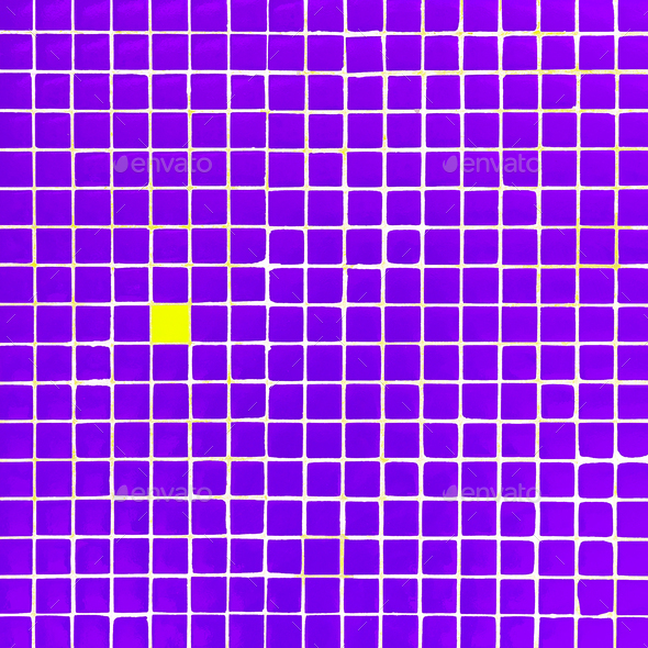 Purple square wall minimal city art - Stock Photo - Images