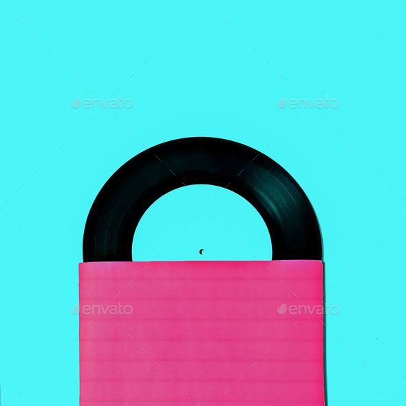 Vinyl Retro minimal  art design - Stock Photo - Images