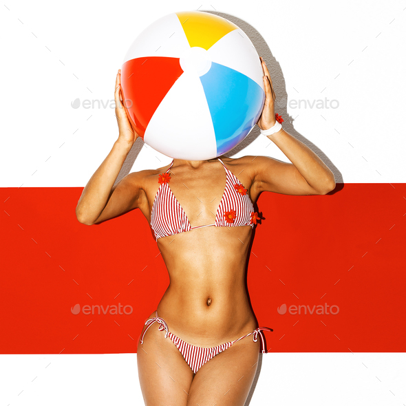 Beach vibes Hot Summer Hot Model Beach Party style - Stock Photo - Images