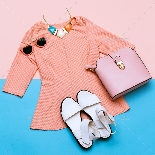Vintage Pink Jacket for Lady. Accessories. Summer Trend - Stock Photo - Images