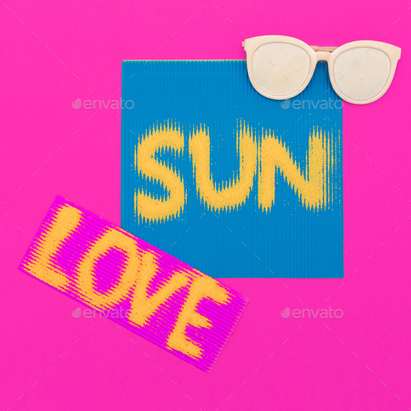 I love sun. Minimal art fashion style - Stock Photo - Images