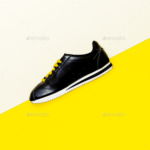 Shoes, Sneakers Minimal Fashion Design Urban Style - Stock Photo - Images