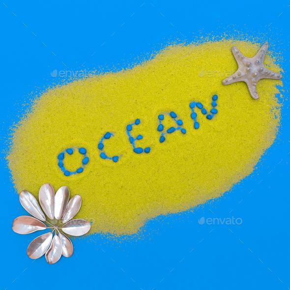 Ocean style Minimal art fashion design - Stock Photo - Images