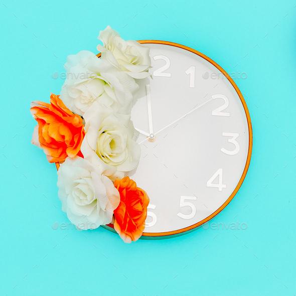 Clock Art Minimal Style Design - Stock Photo - Images