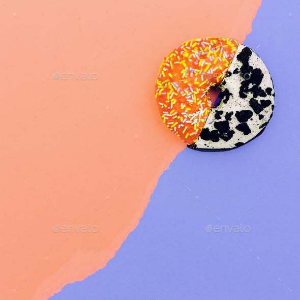 Donut Mix eat me minimal design creative art - Stock Photo - Images