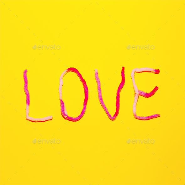 Text Love Candy Color Fashion minimal art - Stock Photo - Images