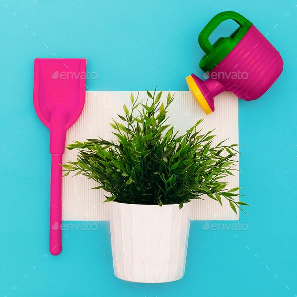 A set of Florist. Minimal art design - Stock Photo - Images