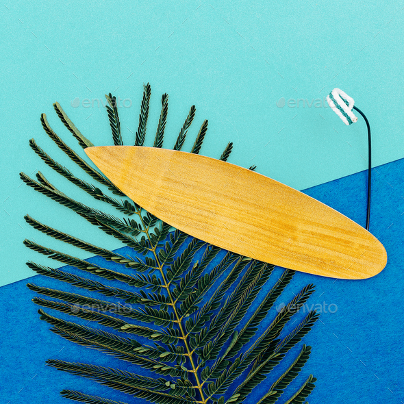Surfing time  minimal art design - Stock Photo - Images