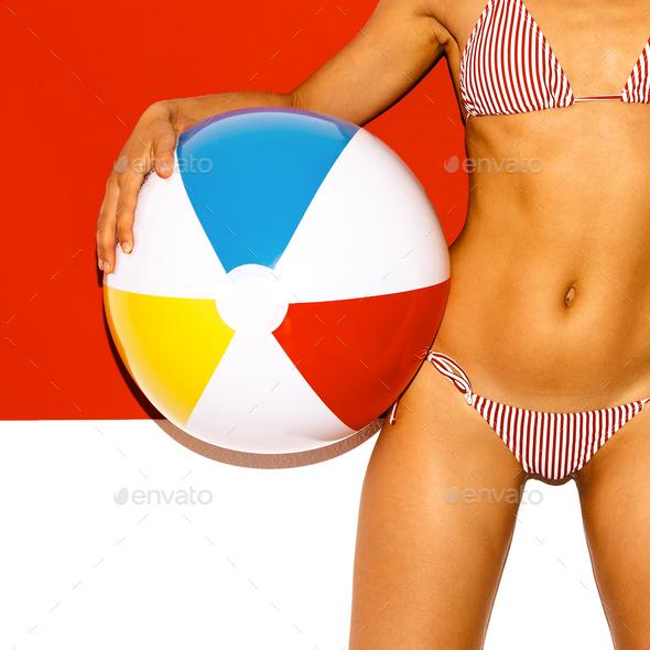 Summer Beach Girl fashion - Stock Photo - Images