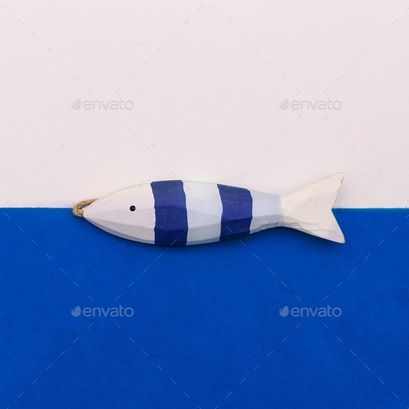Fish souvenir Minimal art design - Stock Photo - Images