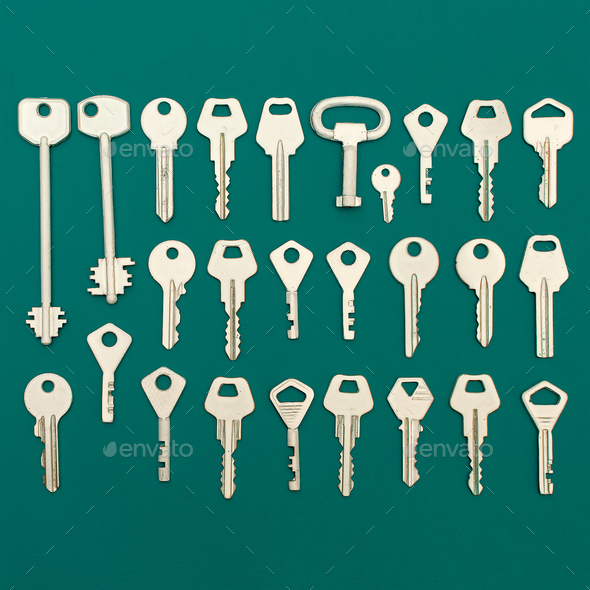 Keys set. Minimal art style - Stock Photo - Images