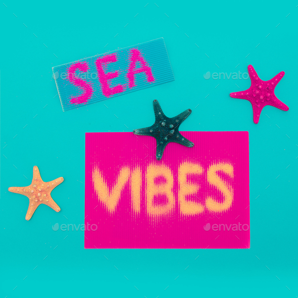 Beach and vacation. sea vibes Minimal art design - Stock Photo - Images