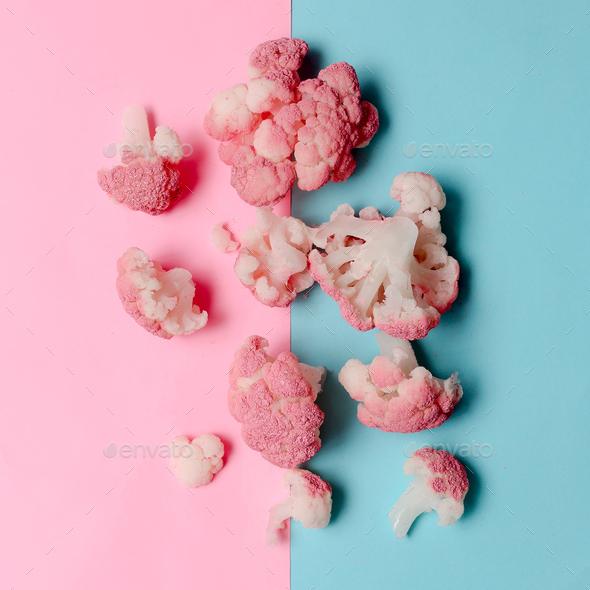 Cauliflower Minimal - Stock Photo - Images