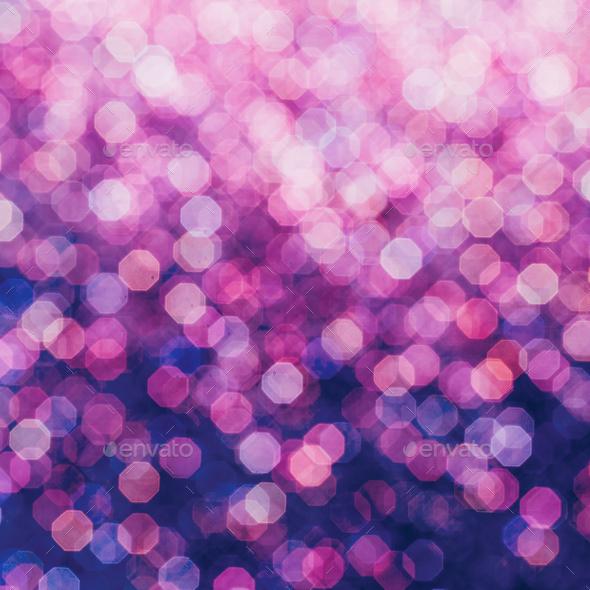 Purple bokeh minimal art design - Stock Photo - Images