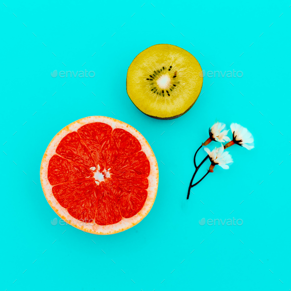 Tropical mix. Fruit. Minimal - Stock Photo - Images