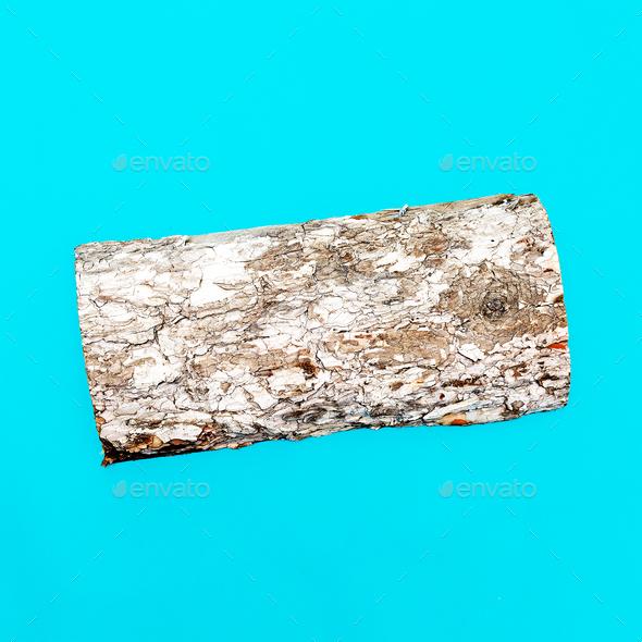 Bio Firewood Minimal art - Stock Photo - Images