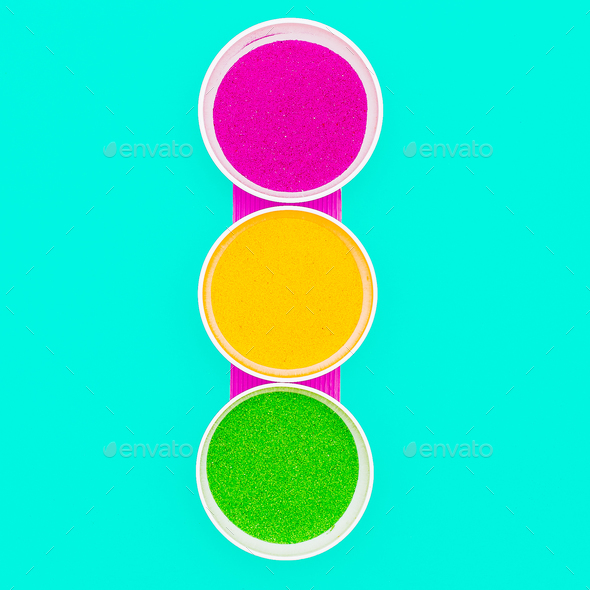 Bright Traffic Light Candy Color Art - Stock Photo - Images