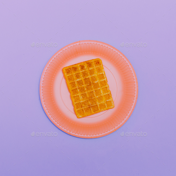 Wafer. Minimal design Art Candy colors - Stock Photo - Images