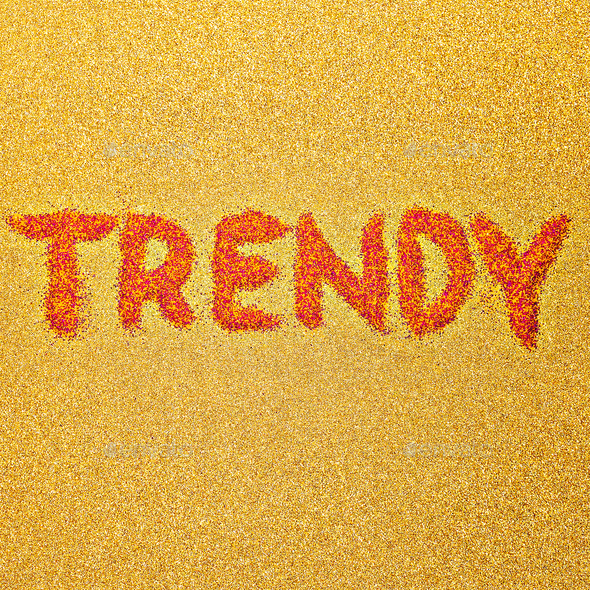 Text Trend Minimal Design Style - Stock Photo - Images