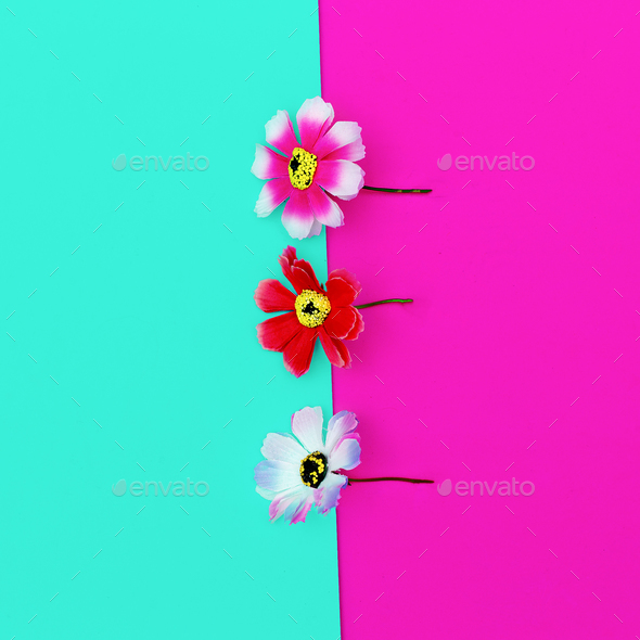 Flowers. Minimal design fashion - Stock Photo - Images