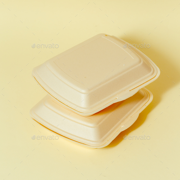 Fast food containers. Minimal design - Stock Photo - Images