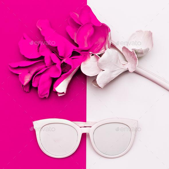 Fashion accessory Sunglasses Minimal art design - Stock Photo - Images