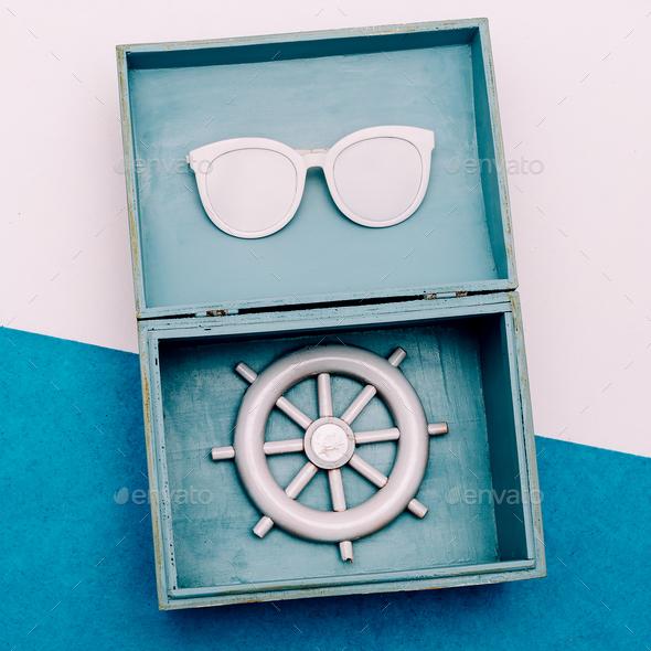 Sea vibration. Ocean souvenirs. minimal set - Stock Photo - Images