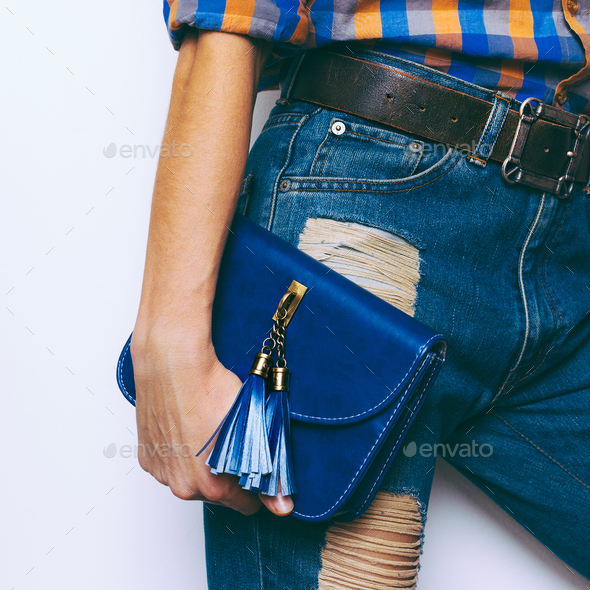 Country style fashion. Fashionable Bags and Belts - Stock Photo - Images