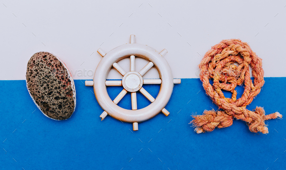 Sea Ocean set. Travel. Minimal art design - Stock Photo - Images