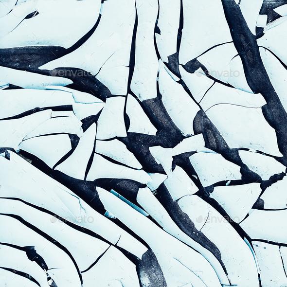 Background cracked plastic minimal art - Stock Photo - Images