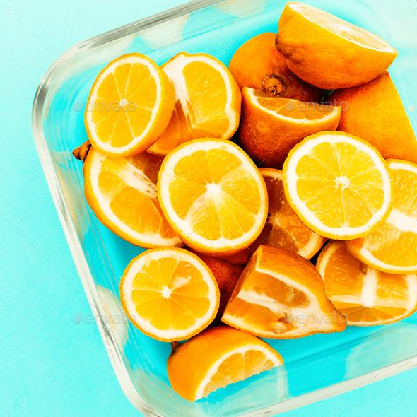 Lemons. Vitamin C Creative Food Ideas - Stock Photo - Images