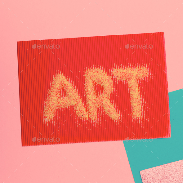 Text of sequins. Art Minimal - Stock Photo - Images