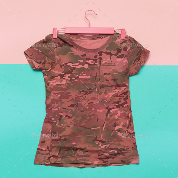 Shirt military style minimalist fashion - Stock Photo - Images