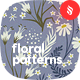 Seamless Patterns Floral Chamomile Backgrounds