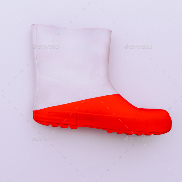 Rubber boot Minimal art design - Stock Photo - Images