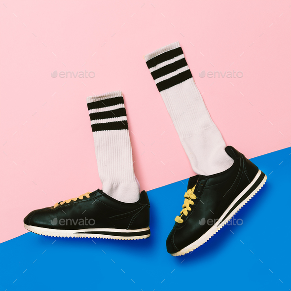 Sneaker fashion minimal - Stock Photo - Images