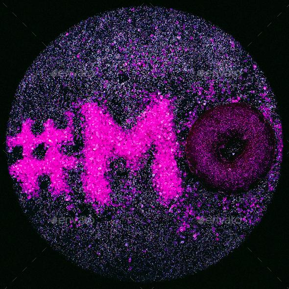 Hashtag Glitter Text Mood Minimal Design Glamour Donut - Stock Photo - Images
