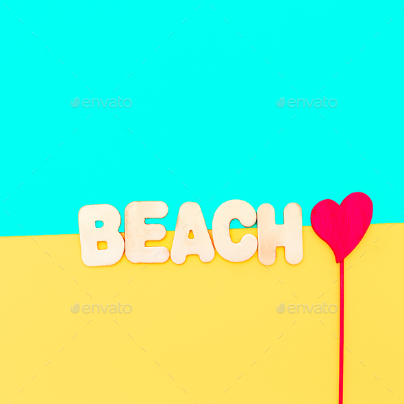 Text Party Beach vibes Minimal - Stock Photo - Images