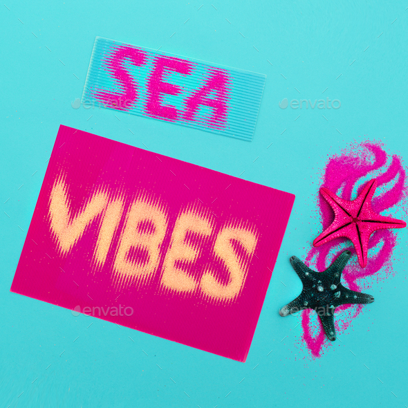 Sea style set Minimal art fashion style - Stock Photo - Images