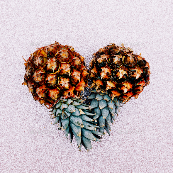 Two mini pineapple. Fashion Art design - Stock Photo - Images
