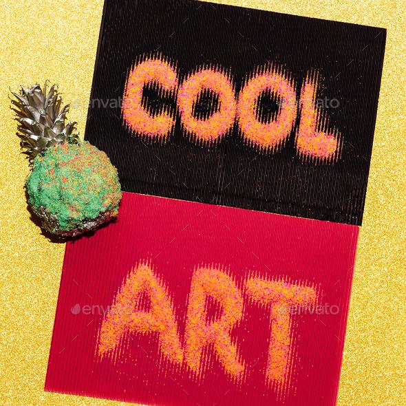 Trendy minimal art cool design - Stock Photo - Images