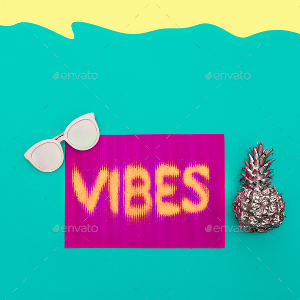 Sea hipster vibes Minimal art design - Stock Photo - Images