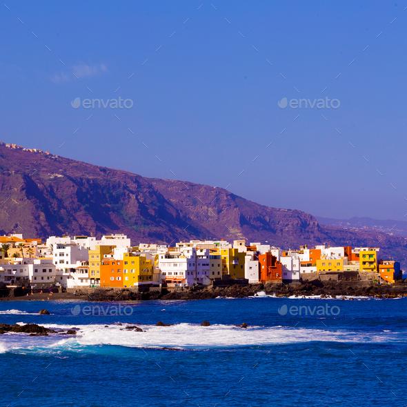 Tenerife Coast. Canary Islands.Travel style. - Stock Photo - Images