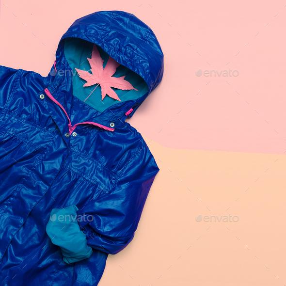 Hello Rains Season. Urban street fashion. Minimal design Idea Ho - Stock Photo - Images